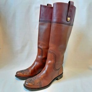 Louis Vuitton authentic brown leather long boots